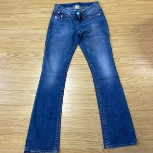 True Religion low rise flares size 26